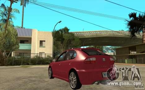 Seat Leon Cupra - Stock for GTA San Andreas back left view