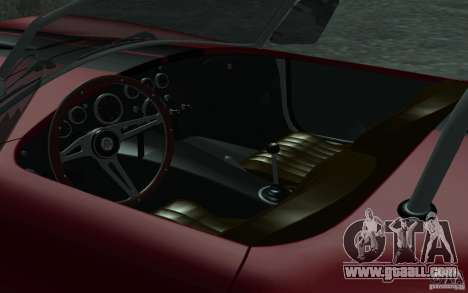 Shelby Cobra 427 for GTA San Andreas upper view