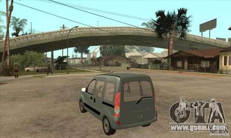 Renault Kangoo 2005 for GTA San Andreas back left view