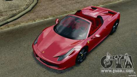 Ferrari 458 Spider 2013 v1.01 for GTA 4 bottom view