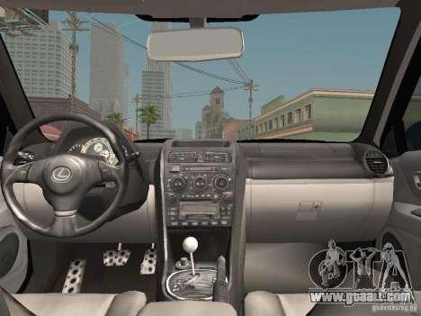 Lexus IS300 HellaFlush for GTA San Andreas bottom view