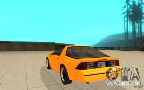 Chevrolet Camaro 1986 Targa Top for GTA San Andreas back left view