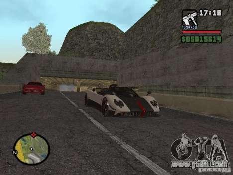 Pagani Zonda Cinque Roadster V2 for GTA San Andreas right view