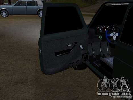 Lada Niva 21214 Tuning for GTA San Andreas inner view