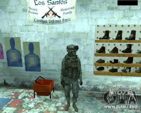 Skin infantryman CoD MW 2 for GTA San Andreas second screenshot