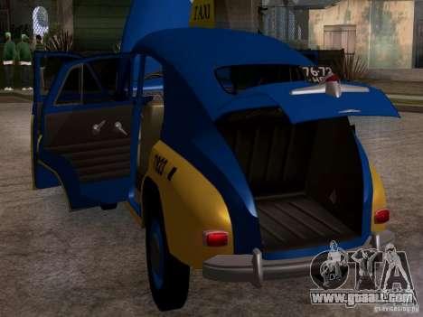 GAZ M20 Pobeda Taxi for GTA San Andreas inner view