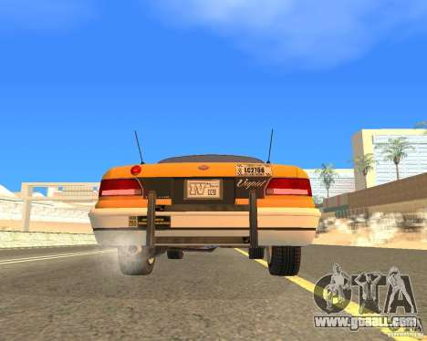 Taxi from GTAIV for GTA San Andreas right view