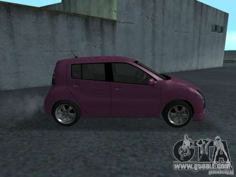Toyota WiLL Cypha for GTA San Andreas back left view
