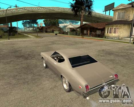 1969 Chevrolet Chevelle for GTA San Andreas left view
