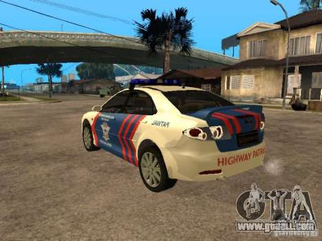 Mazda 6 Police Indonesia for GTA San Andreas left view