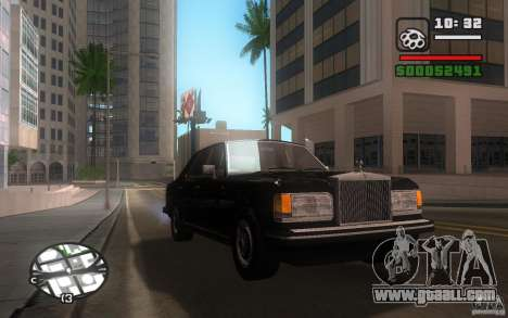Rolls-Royce Silver Spirit 1990 for GTA San Andreas inner view