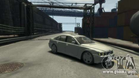 BMW 760I for GTA 4 right view