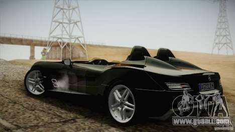 Mercedes-Benz SLR Stirling Moss 2005 for GTA San Andreas back view