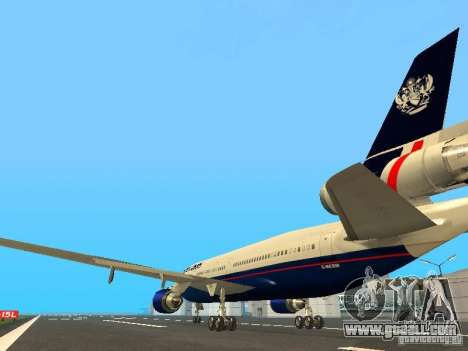McDonell Douglas DC10 British Airways for GTA San Andreas back left view