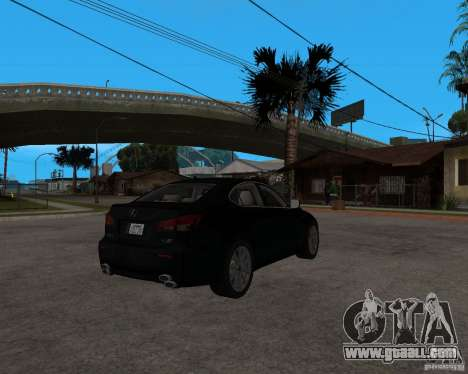 Lexus IS-F v2.0 for GTA San Andreas right view