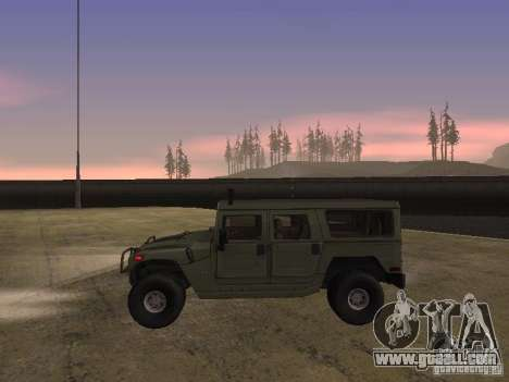 Hummer H1 for GTA San Andreas back left view