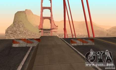 Destroyed bridge in San Fierro for GTA San Andreas