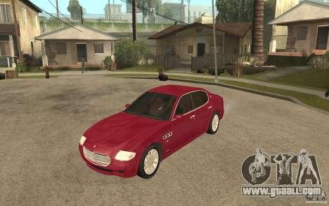Maserati Quattroporte for GTA San Andreas