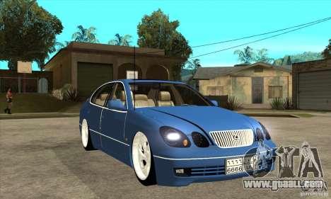 Lexus GS300 V 2003 for GTA San Andreas inner view