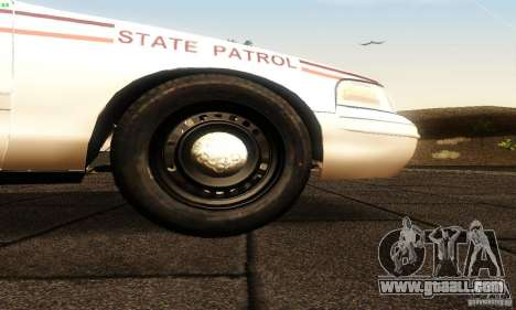 Ford Crown Victoria North Dakota Police for GTA San Andreas right view