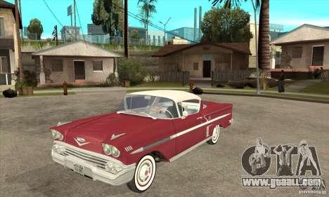 Chevrolet Impala 1958 for GTA San Andreas