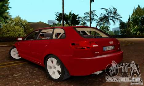 Audi A3 Sportback 3.2 Quattro for GTA San Andreas left view
