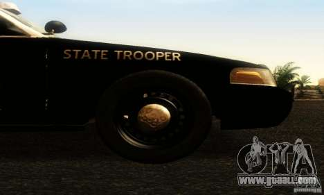 Ford Crown Victoria Texas Police for GTA San Andreas right view