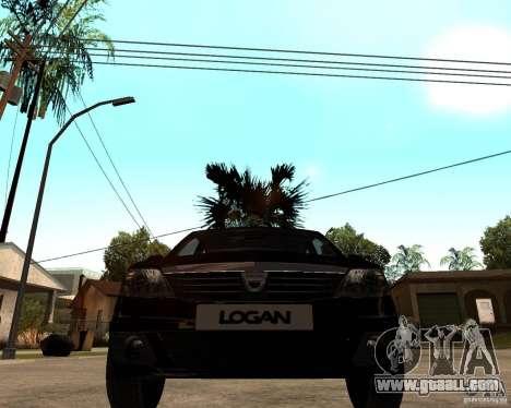 Dacia Logan 2008 for GTA San Andreas back view