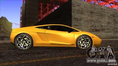 Lamborghini Gallardo SE for GTA San Andreas interior