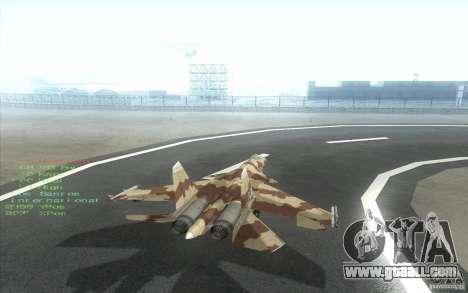 The Su-37 Terminator for GTA San Andreas right view