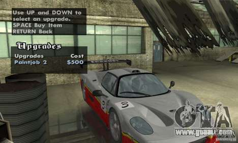 Ferrari F50 GT (v1.0.0) for GTA San Andreas inner view