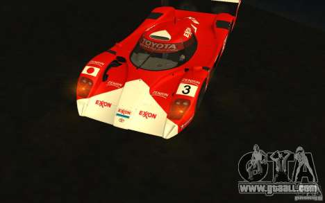 Toyota GT-One TS020 for GTA San Andreas back view