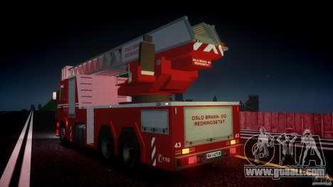 Scania Fire Ladder v1.1 Emerglights red [ELS] for GTA 4