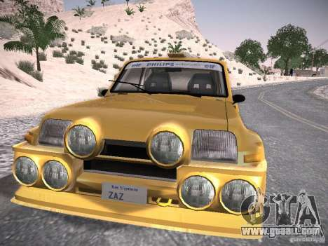 Renault 5 Turbo for GTA San Andreas back left view