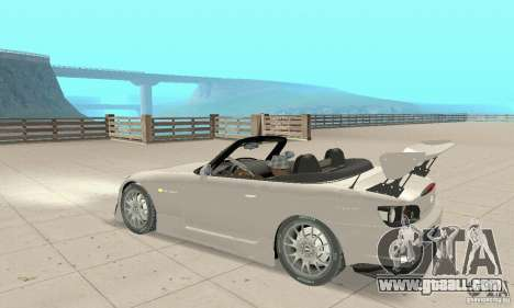 Honda S2000 Cabrio West Tuning for GTA San Andreas back view