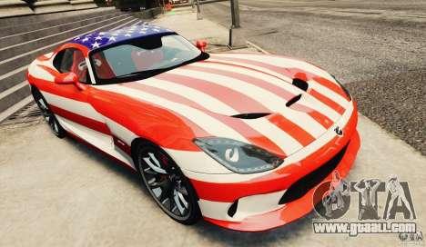 Dodge Viper GTS 2013 for GTA 4 inner view