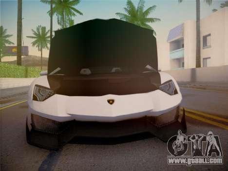 Lamborghini Aventador LP700-4 Roadstar for GTA San Andreas upper view