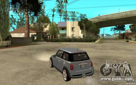 Mini Cooper - Stock for GTA San Andreas back left view