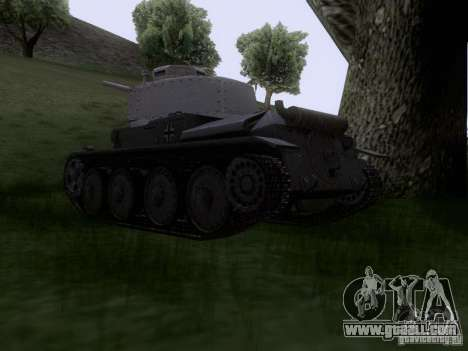 Pzkpfw-38 [t] for GTA San Andreas left view