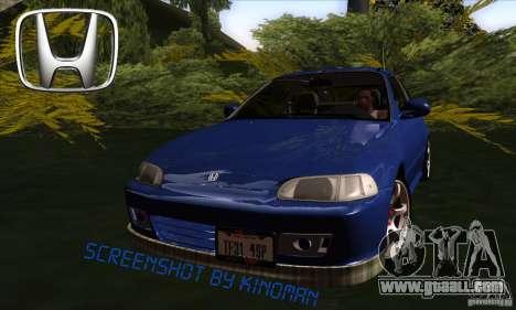 Honda Civic EG5 for GTA San Andreas