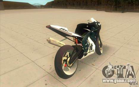 Yamaha Copbike Beta for GTA San Andreas back left view