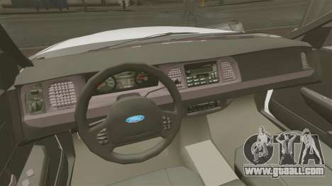 Ford Crown Victoria Unmarked ELS for GTA 4 inner view