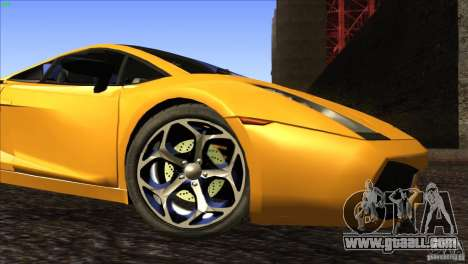Lamborghini Gallardo SE for GTA San Andreas bottom view
