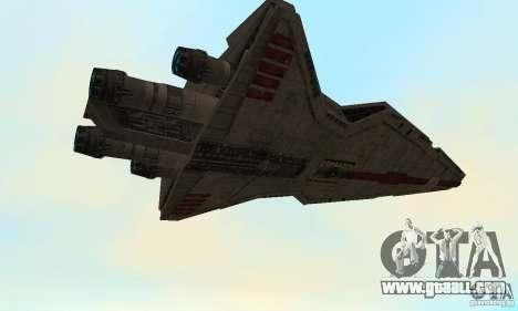 Republic Attack Cruiser Venator class v3 for GTA San Andreas back view