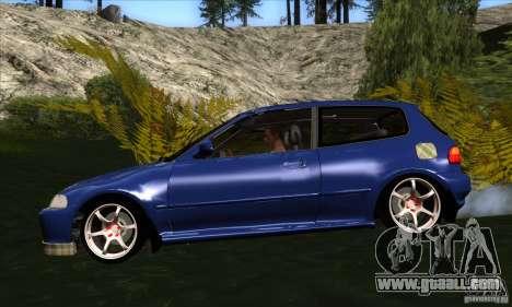 Honda Civic EG5 for GTA San Andreas left view