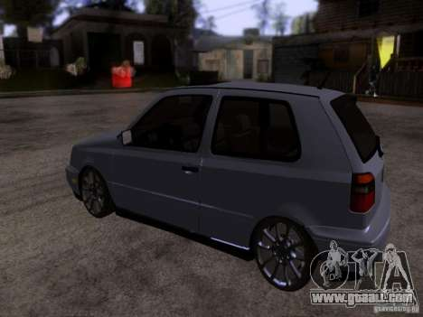 Volkswagen Golf 3 VR6 for GTA San Andreas back left view