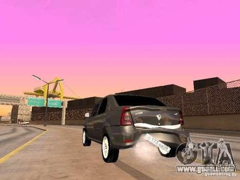 Renault Logan for GTA San Andreas right view