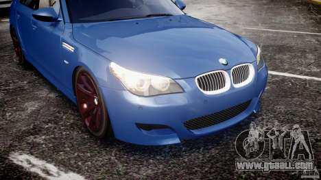 BMW M5 E60 2009 for GTA 4 engine