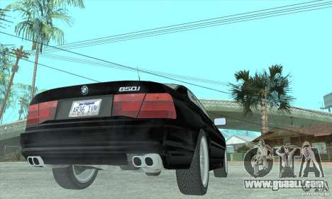 BMW 850i for GTA San Andreas left view