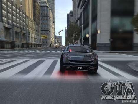 Ford Taurus FBI 2012 for GTA 4 right view